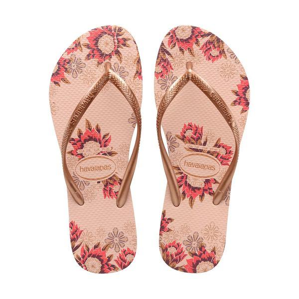 ハワイアナス レディース サンダル シューズ Slim Organic Rubber Thong Sandals Ballet Rose