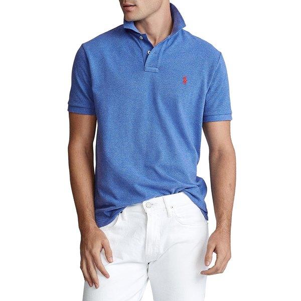 ラルフローレン メンズ シャツ トップス Custom Slim-Fit Cotton Mesh Polo Dockside Blue