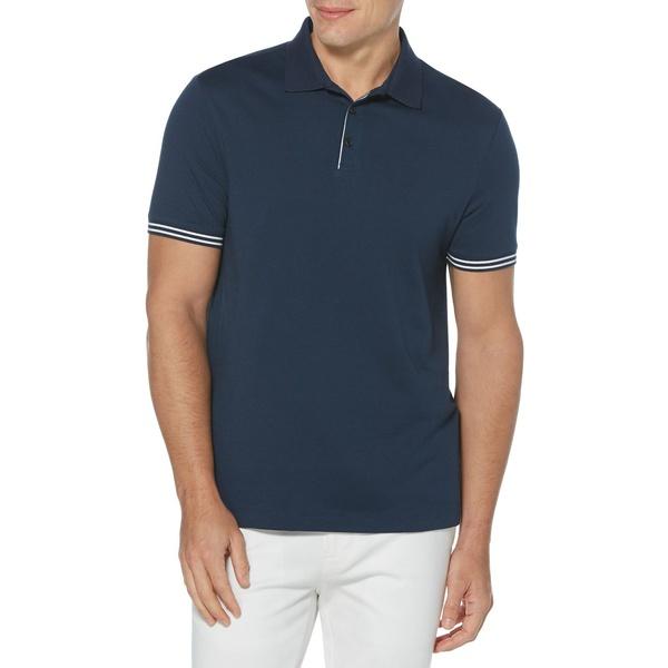 ペリーエリス メンズ シャツ トップス Icon Polo Shirt Ink