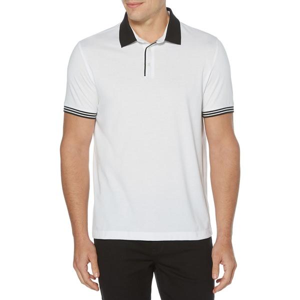ペリーエリス メンズ シャツ トップス Icon Polo Shirt Bright White