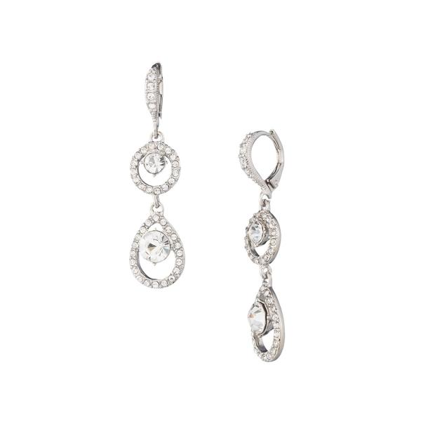 ジバンシー レディース ピアス&イヤリング アクセサリー Rhodium-Plated and Crystal Double Drop Earrings Silver
