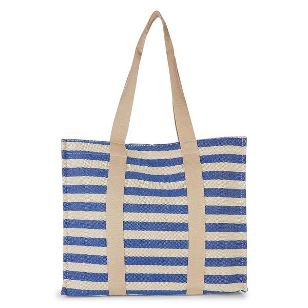 コレクションエイティーン レディース トートバッグ バッグ Striped Tote Blue