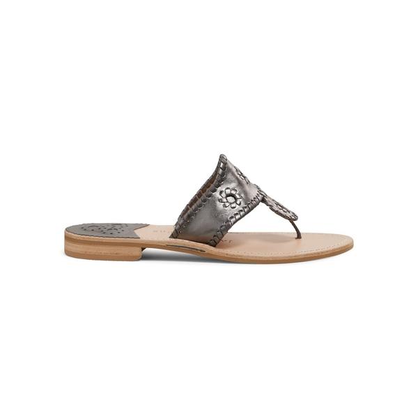ジャックロジャース レディース サンダル シューズ Resort Kennedy Jacks Leather Sandals Pewter