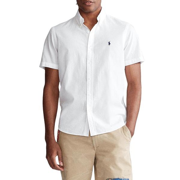 ラルフローレン メンズ シャツ トップス Classic-Fit Seersucker Shirt White