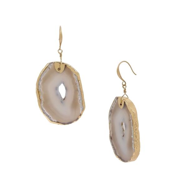 ロバートリーモリス レディース ピアス&イヤリング アクセサリー Goldtone & Agate Drop Earrings Gold