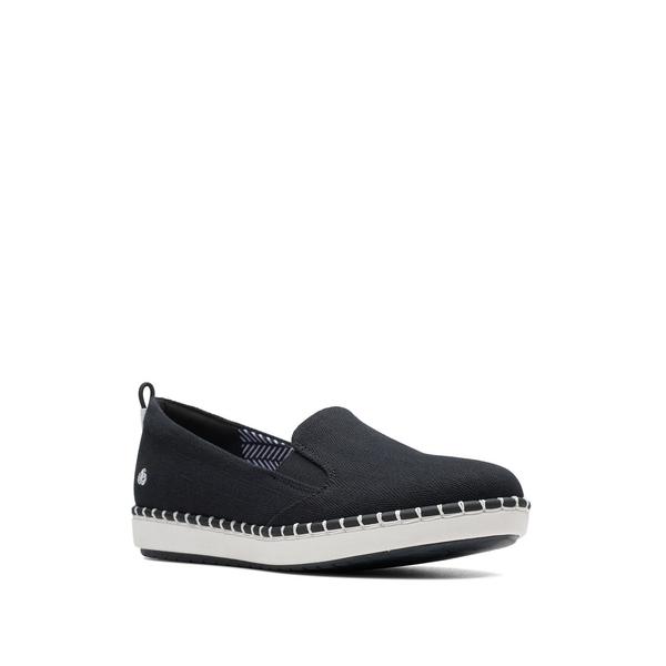 クラークス レディース スニーカー シューズ Step Glow Slip Cloudsteppers Sneakers Black
