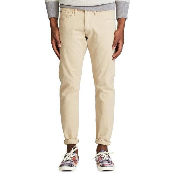 ラルフローレン メンズ デニムパンツ ボトムス Varick Slim Straight Jeans Khaki