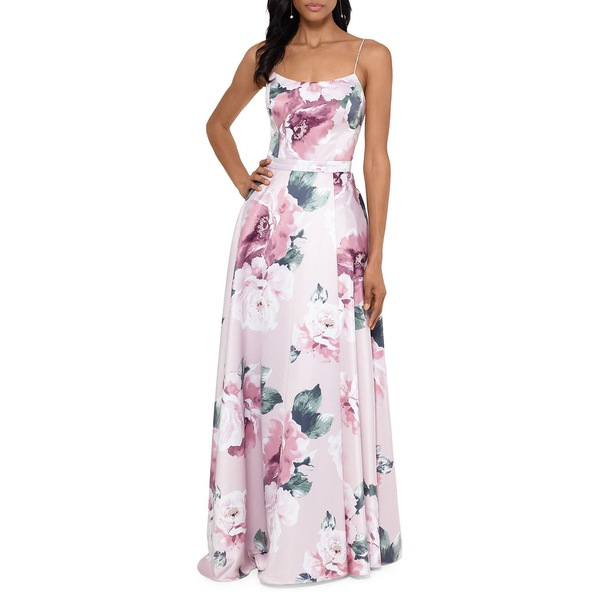 エスケープ レディース ワンピース トップス Floral Scoopneck Gown Blush