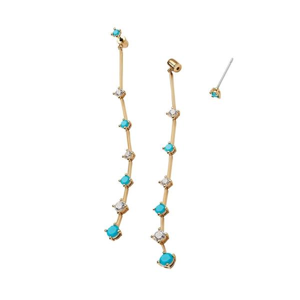 ナディール レディース ピアス&イヤリング アクセサリー Issa Turq 18K Goldplated & Crystal Long Linear Earrings Gold