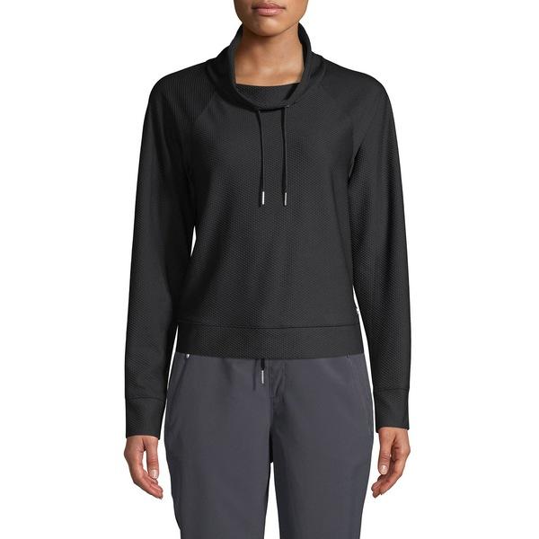 カルバンクライン レディース パーカー・スウェットシャツ アウター Stretch Raglan-Sleeve Sweatshirt Black