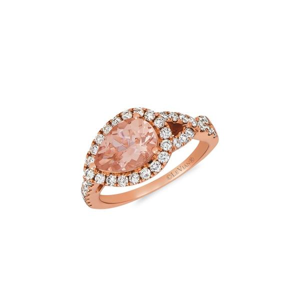 ルヴァン レディース リング アクセサリー 14K Strawberry Gold®, Peach Morganite™ & Nude Diamonds™ Ring Peach