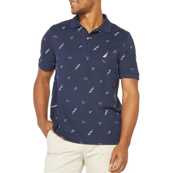 ナウティカ メンズ シャツ トップス Classic-Fit Cotton-Blend Polo Navy