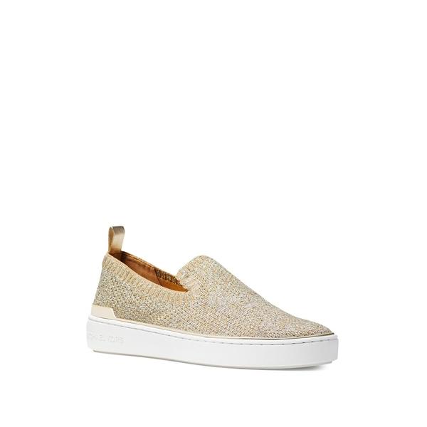 マイケルコース レディース スニーカー シューズ Skyler Slip-On Sneakers Silver Gold