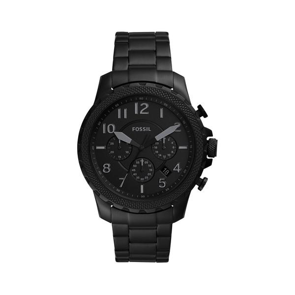 フォッシル メンズ 腕時計 アクセサリー Bowman Stainless Steel Chronograph Watch Black