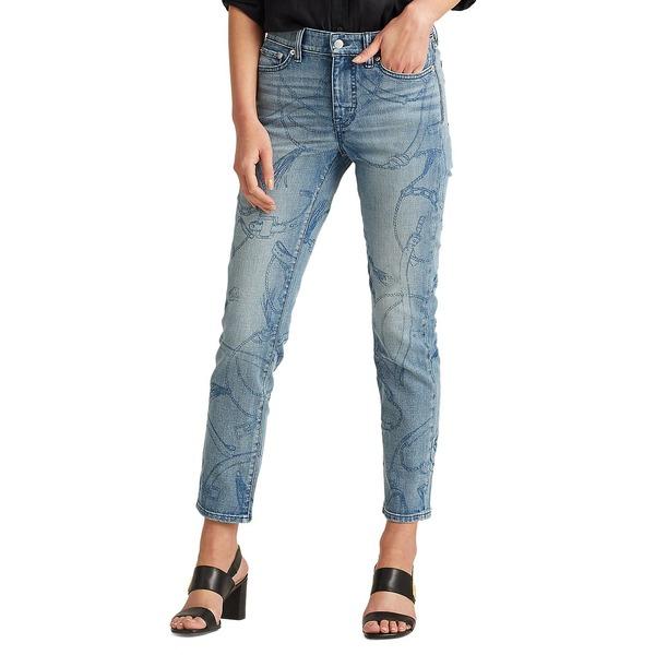 ラルフローレン レディース デニムパンツ ボトムス Straight Ankle Jeans Worn Indigo