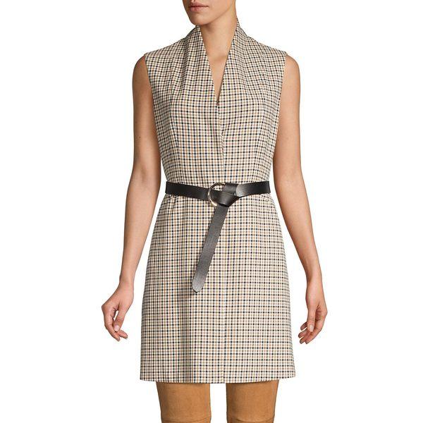 エリータハリ レディース コート アウター Savannah Graph Check Vest Almond Multi