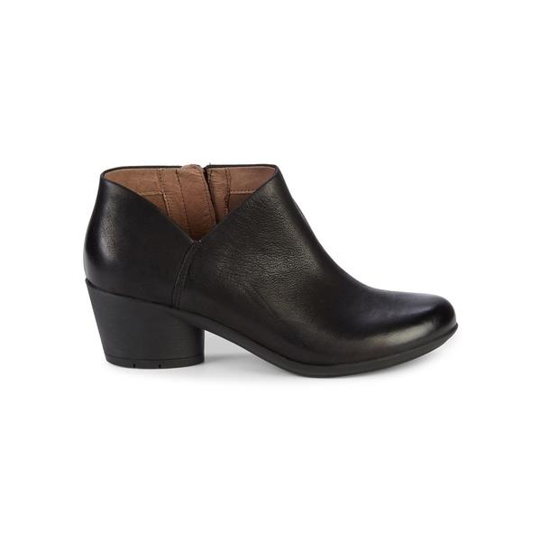 ダンスコ レディース ブーツ&レインブーツ シューズ Raina Leather Booties Black