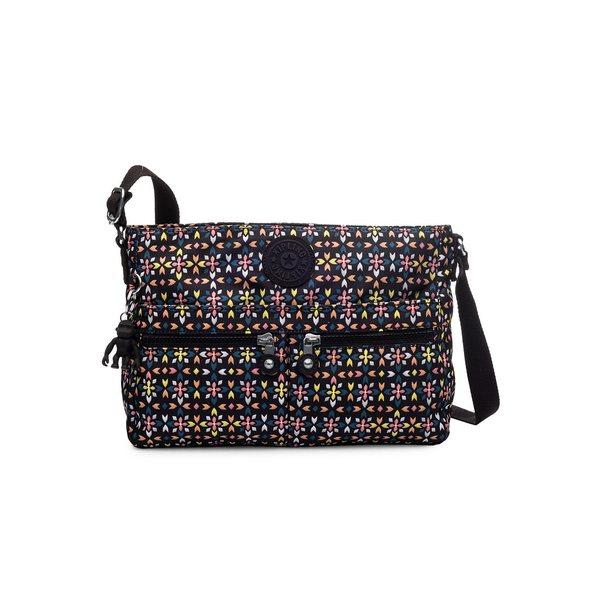 キプリング レディース ショルダーバッグ バッグ New Angie Crossbody Bag Black Floral