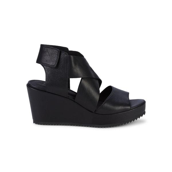 エイリーンフィッシャー レディース サンダル シューズ Whimsey Leather Wedge Sandals Black