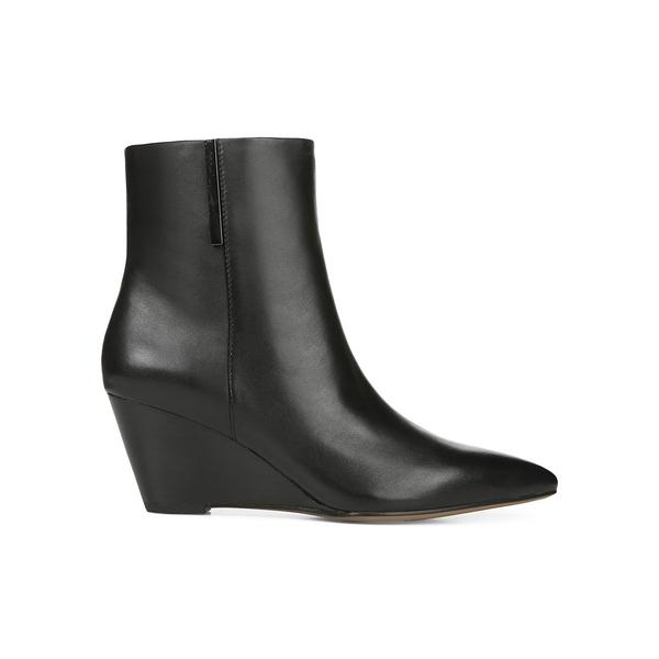 フランコサルト レディース パンプス シューズ Athens Leather Wedge Booties Black