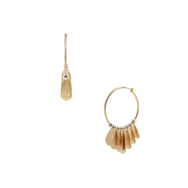 ロバートリーモリス レディース ピアス&イヤリング アクセサリー Two-Tone Sculptural Shaky Hoop Earrings Two Tone