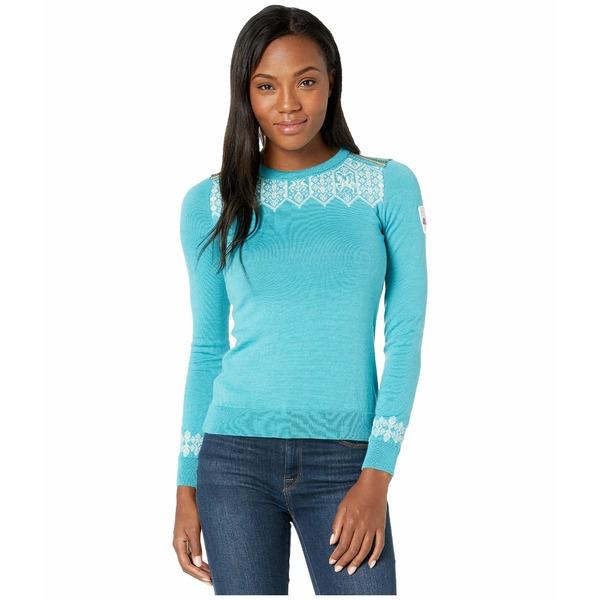 ダールオブノルウェイ レディース ニット&セーター アウター Lillehammer Sweater Turquoise/Off-White