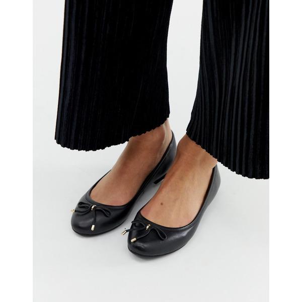 アルド レディース サンダル シューズ Aldo leather ballet flats in black Black leather