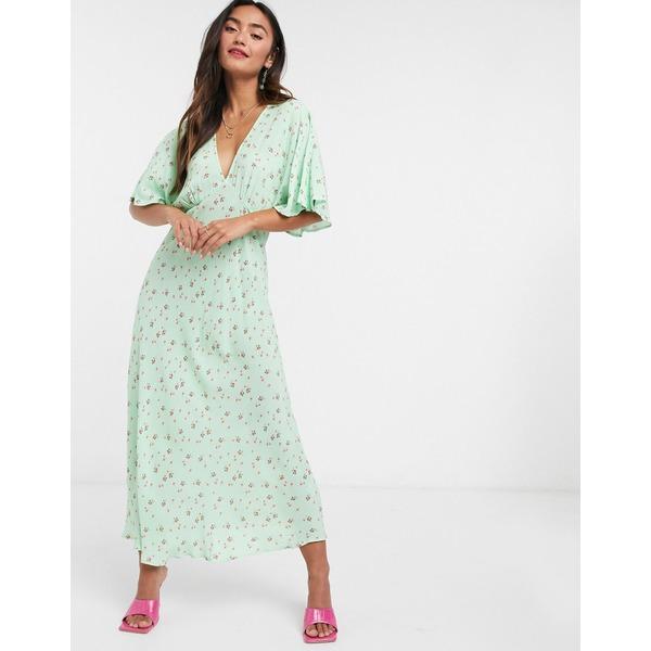 ゴースト レディース ワンピース トップス Ghost Tessie dress in green Green