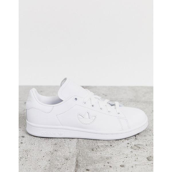 アディダスオリジナルス レディース スニーカー シューズ Adidas Originals White Stan Smith with Trefoil White