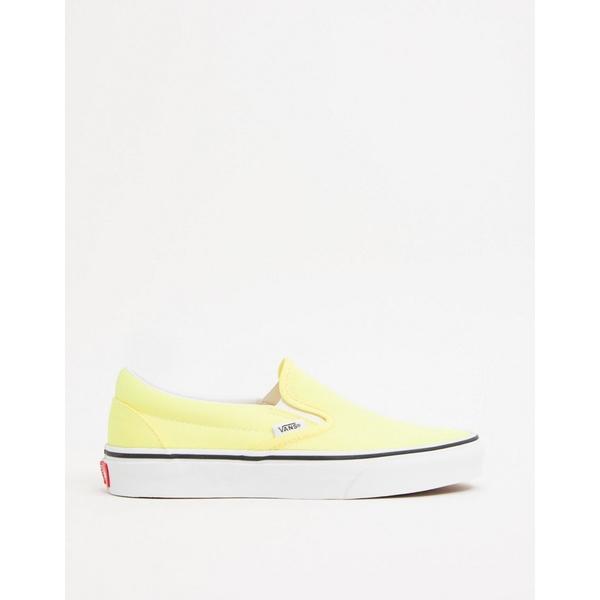 バンズ レディース シューズ スニーカー Neon lemon tonic tru in 全商品無料サイズ交換 Classic Vans sneaker yellow Slip-On 爆売り 新品