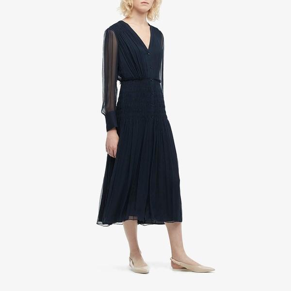 ジェイソンウー レディース ワンピース トップス Silk Crinkle Chiffon V-Neck Dress Midnight