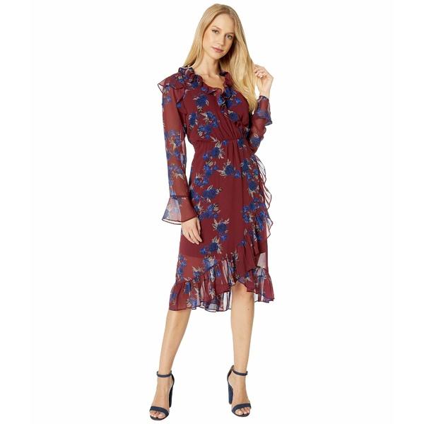 ケンジー レディース トップス ワンピース Mulberry Combo 全商品無料サイズ交換 ケンジー レディース ワンピース トップス Rhythm and Blues Floral Long Sleeve Faux Wrap Dress KS9K8395 Mulberry Combo