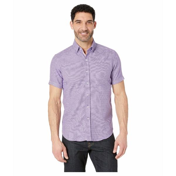 ロバートグラハム メンズ シャツ トップス Liam Short Sleeve Woven Shirt Purple