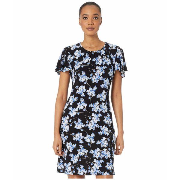 トミー ヒルフィガー レディース ワンピース トップス Blossom Bouquet Jersey A-Line Dress Black/Blue