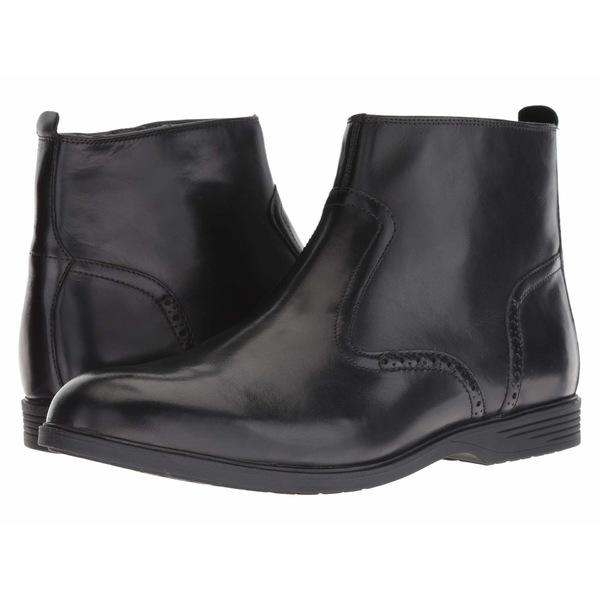 ハッシュパピー メンズ ブーツ&レインブーツ シューズ Shepsky Zip Boot Black Leather