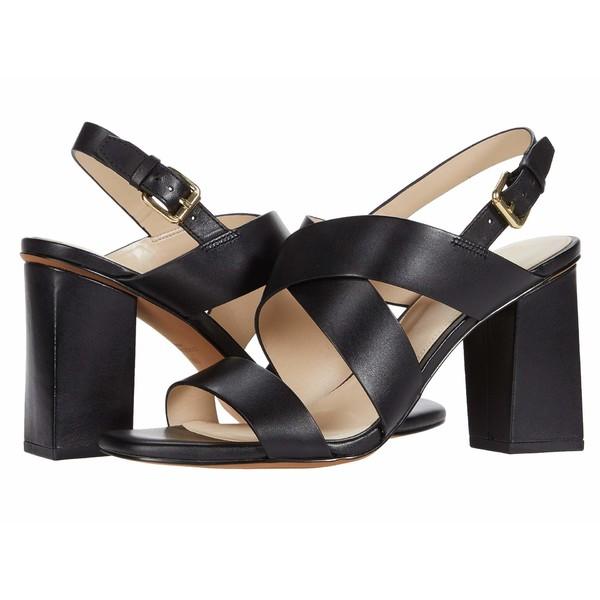 コールハーン レディース ヒール シューズ Cynthia Block Heel Sandal 85mm Black Leather