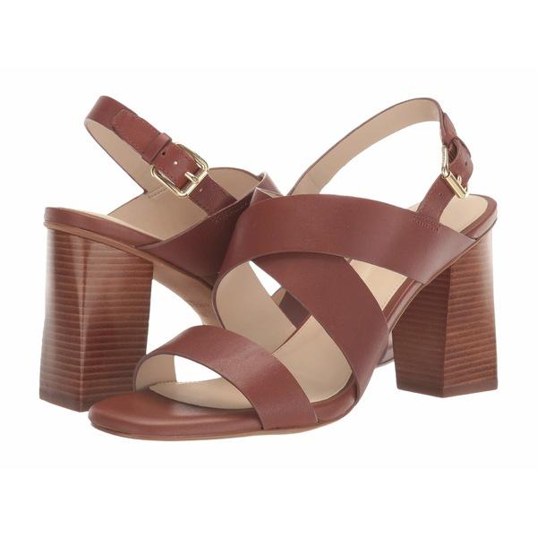 コールハーン レディース ヒール シューズ Cynthia Block Heel Sandal 85mm Brown Leather