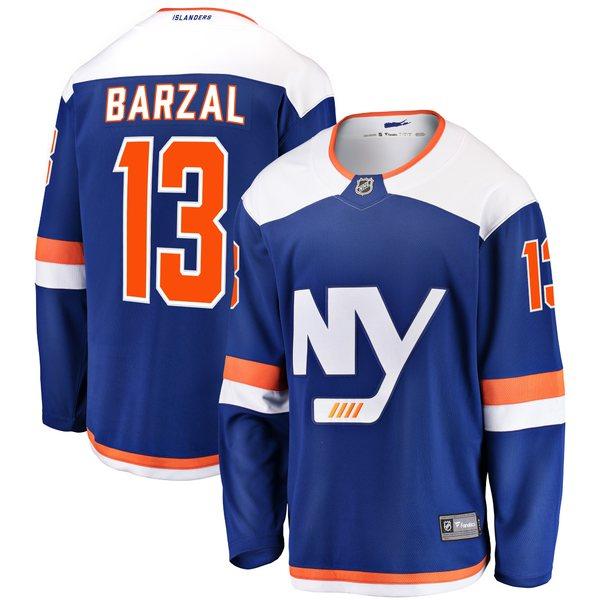 ファナティクス メンズ ユニフォーム トップス Mathew Barzal New York Islanders Fanatics Branded Alternate Breakaway Jersey Blue