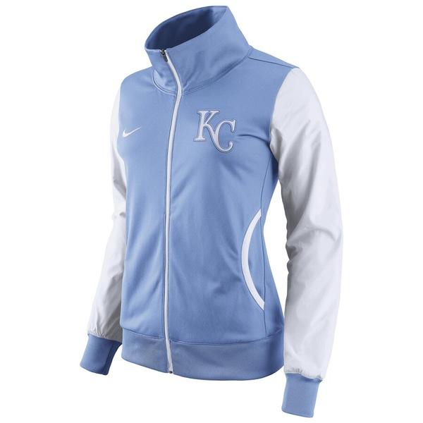 ナイキ レディース ジャケット&ブルゾン アウター Kansas City Royals Nike Women's Track Jacket Light Blue