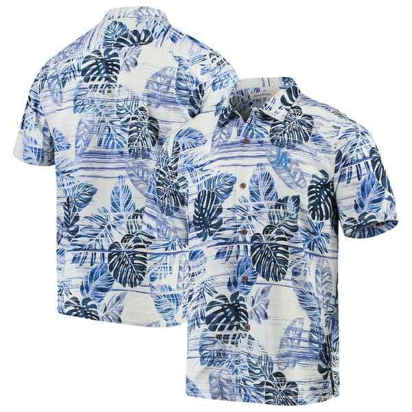 トッミーバハマ メンズ シャツ トップス Los Angeles Dodgers Tommy Bahama Sport Super Fan Silk Camp Shirt Royal