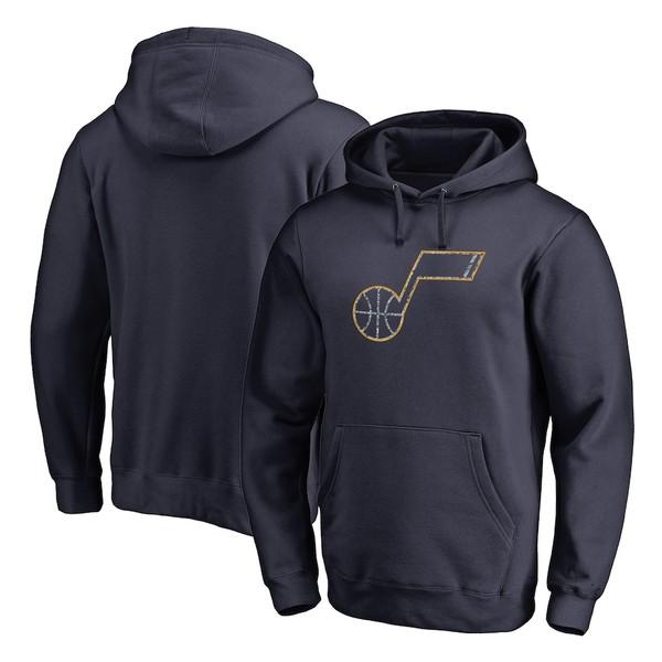 ファナティクス メンズ パーカー・スウェットシャツ アウター Utah Jazz Fanatics Branded Static Logo Pullover Hoodie Navy