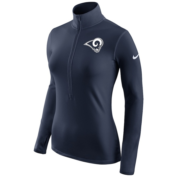 ナイキ レディース ジャケット&ブルゾン アウター Los Angeles Rams Nike Women's Champ Drive Pro Hyperwarm Half-Zip Jacket Navy