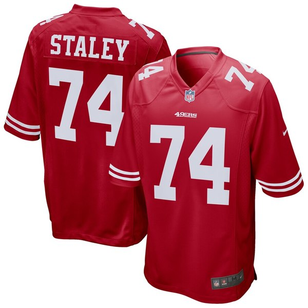 ナイキ メンズ シャツ トップス Joe Staley San Francisco 49ers Nike Game Jersey Scarlet
