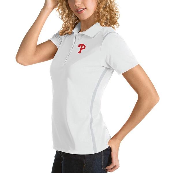 アンティグア レディース ポロシャツ トップス Philadelphia Phillies Antigua Women's Merit Polo White