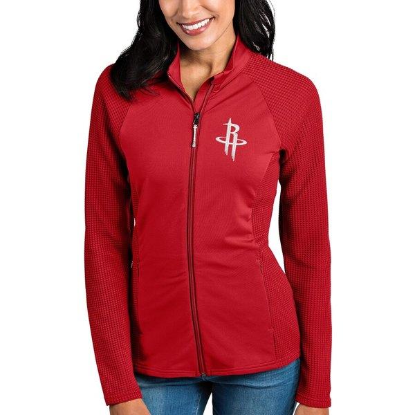 アンティグア レディース ジャケット&ブルゾン アウター Houston Rockets Antigua Women's Sonar Full-Zip Jacket Red