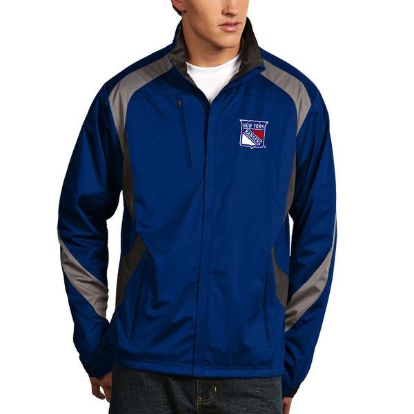 アンティグア メンズ ジャケット&ブルゾン アウター New York Rangers Antigua Tempest Performance Full-Zip Jacket Royal