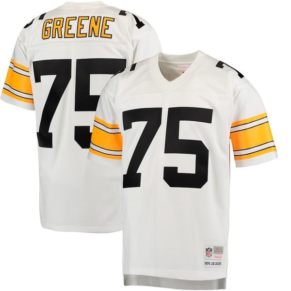 ミッチェル&ネス メンズ シャツ トップス Joe Greene Pittsburgh Steelers Mitchell & Ness Retired Player Legacy Replica Jersey White