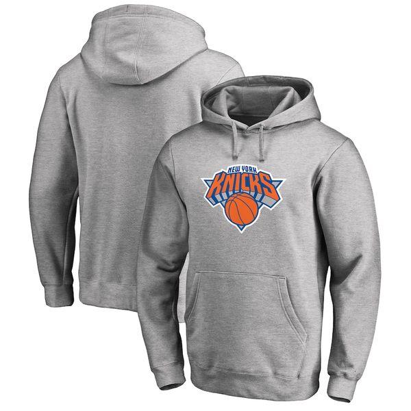 ファナティクス メンズ パーカー・スウェットシャツ アウター New York Knicks Fanatics Branded Primary Logo Pullover Hoodie Gray