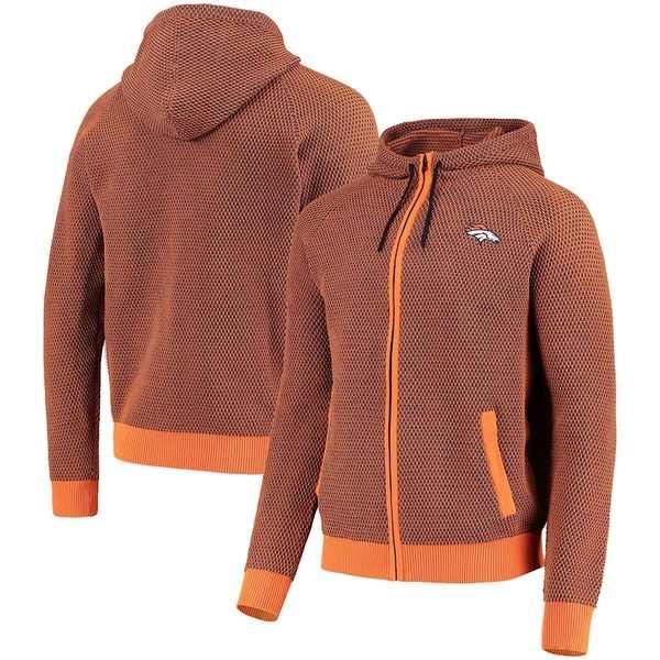フォコ メンズ シャツ トップス Denver Broncos Poly-Knit Full-Zip Hoodie Orange