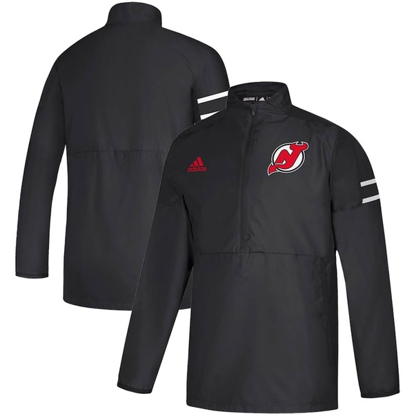 アディダス メンズ ジャケット&ブルゾン アウター New Jersey Devils adidas Game Mode Quarter-Zip Pullover Jacket Black